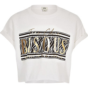Weißes T-Shirt mit Animal-Print