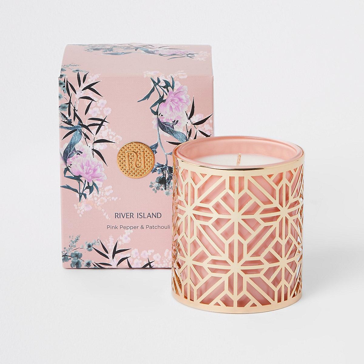 Bougie parfumée au poivre rose et patchouli
