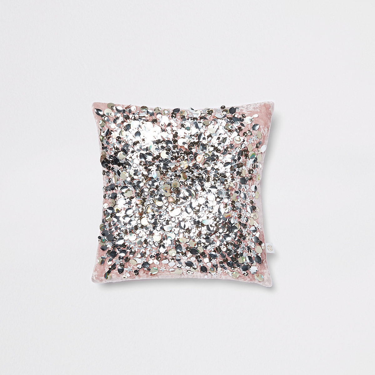 Light pink sequin cuddle cushion