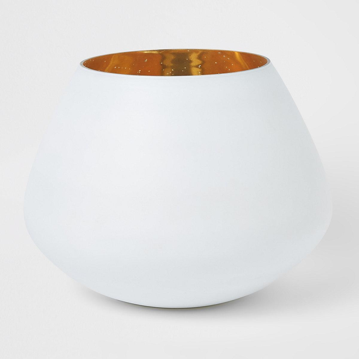Grande bougie votive mercurée blanc mat