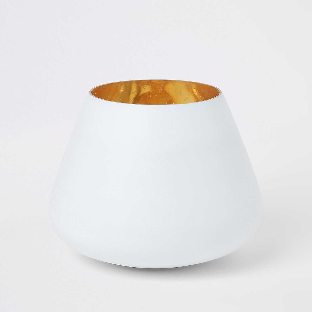 Bougie votive moyenne mercurée blanc mat