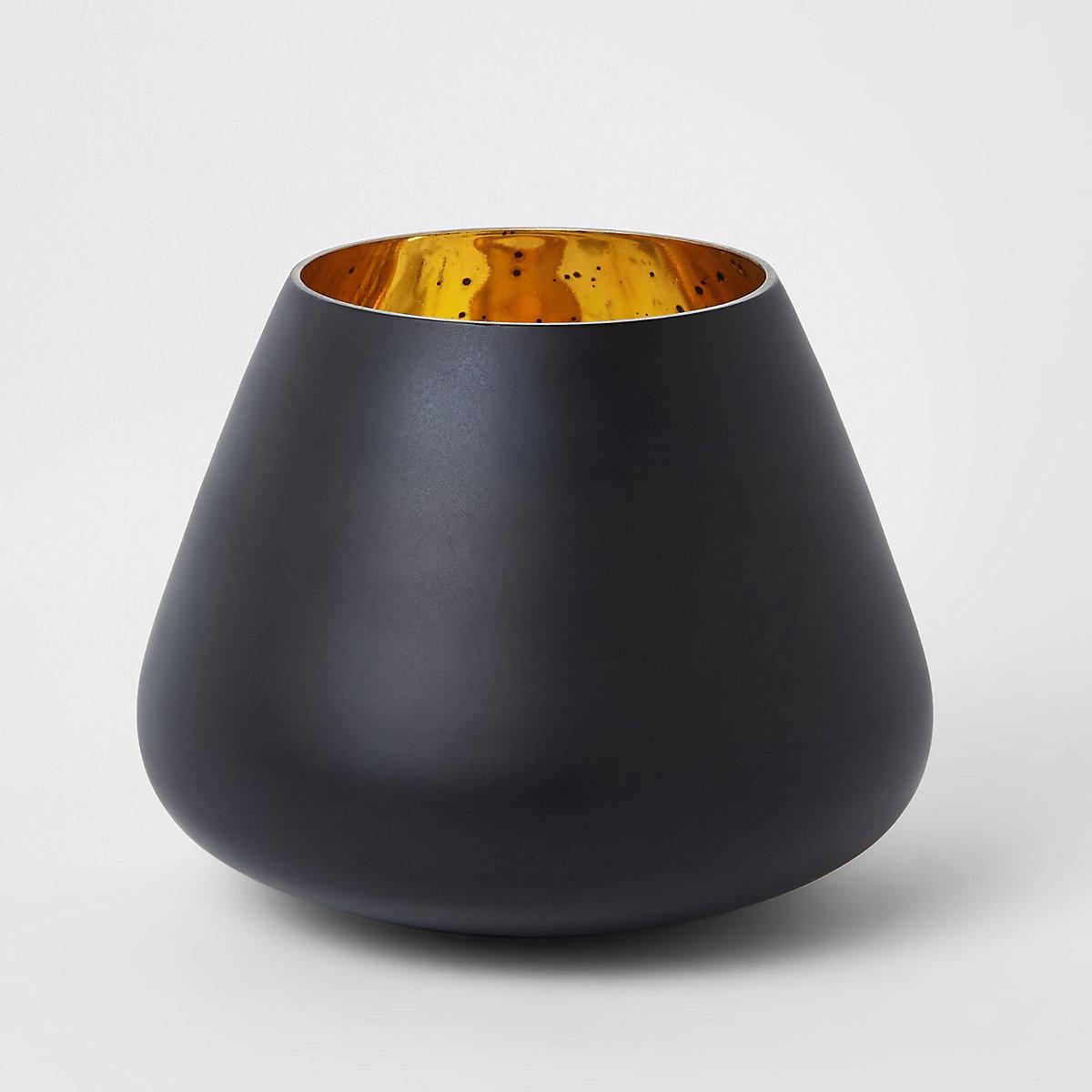 Medium black matte mercury votive
