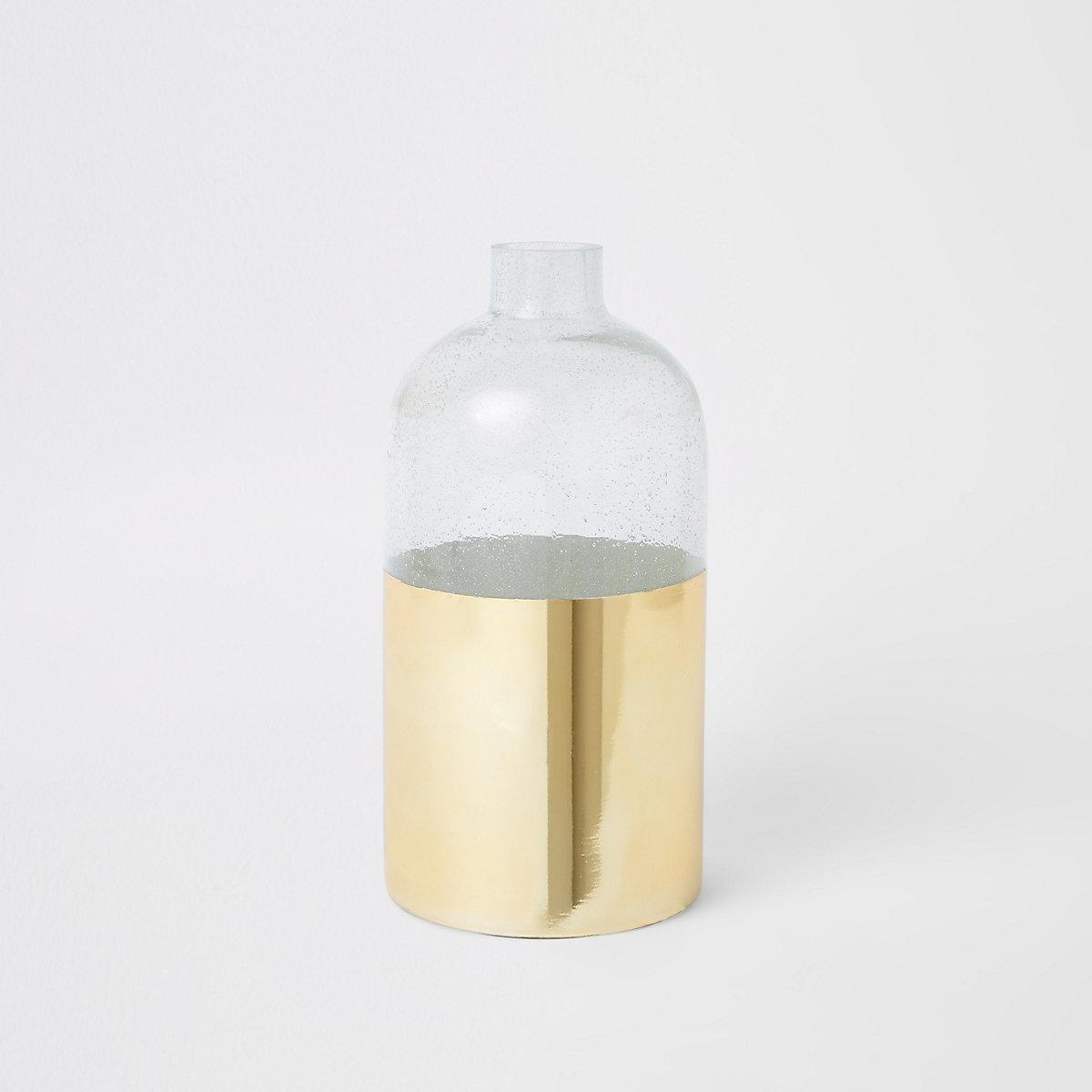 Vase bulle doré et transparent