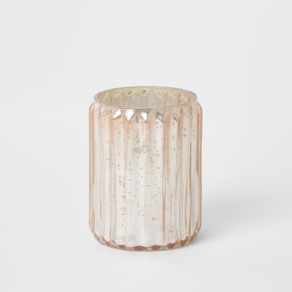 Bougeoir chauffe-plat en verre rose