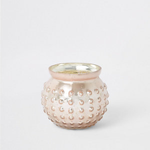 Pink mercury glass tealight holder