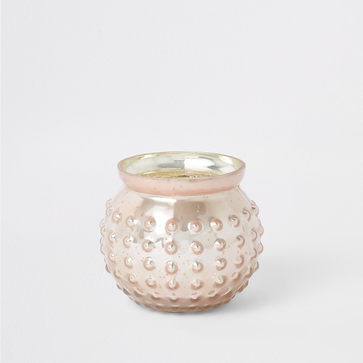 Pink mercury glass tealight holder