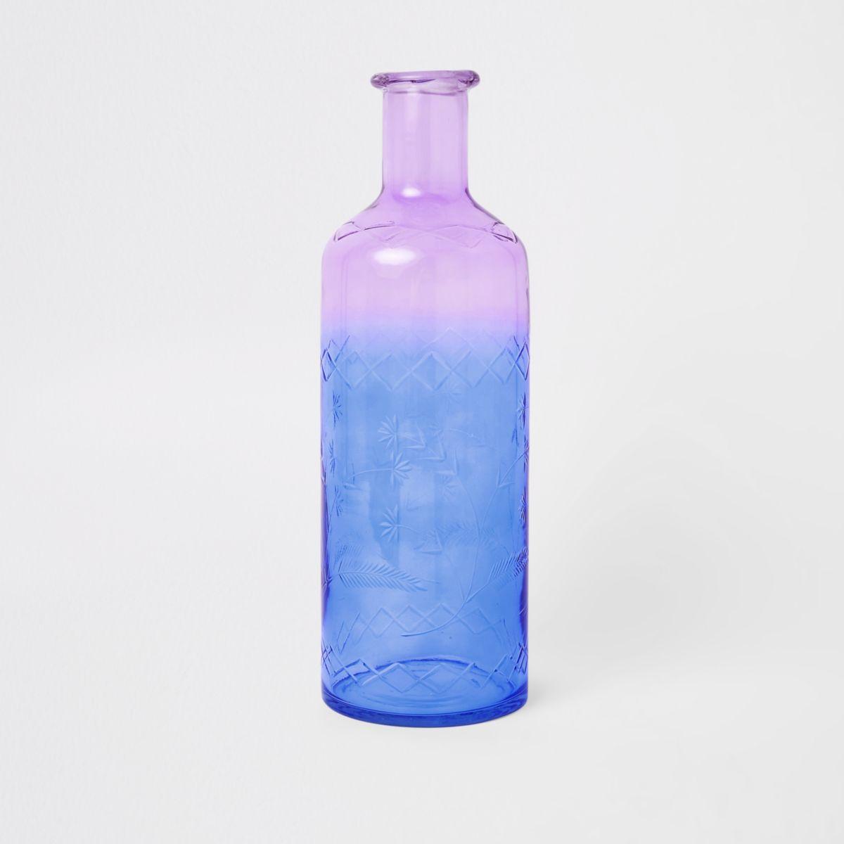 Ombre decorative glass bottle vase