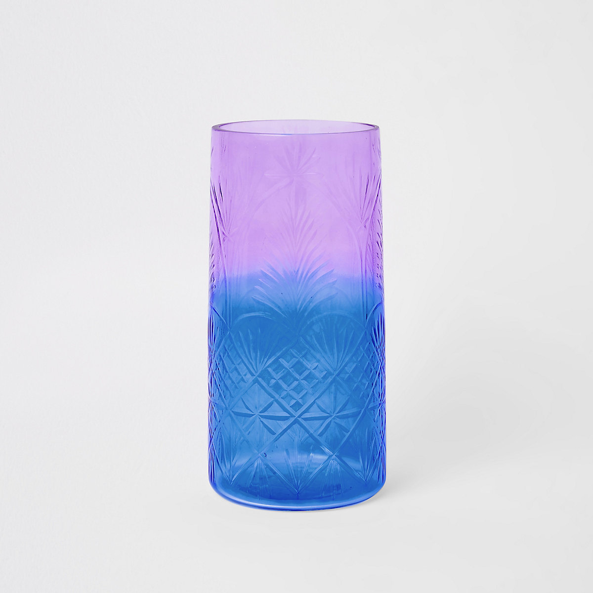 Ombre decorative glass vase