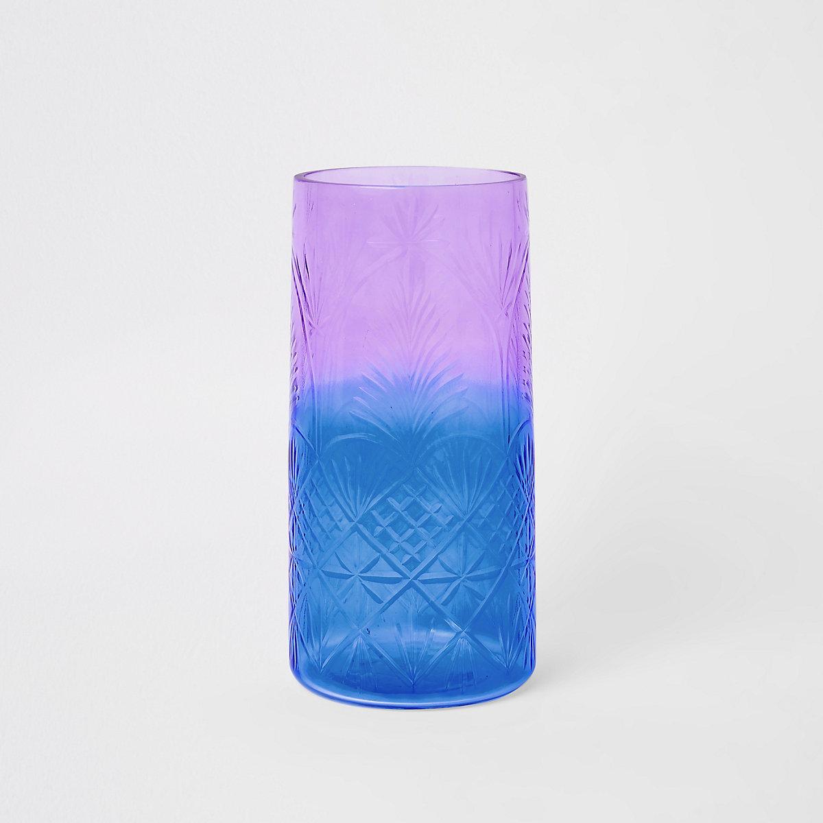 Vase décoratif en verre dégradé