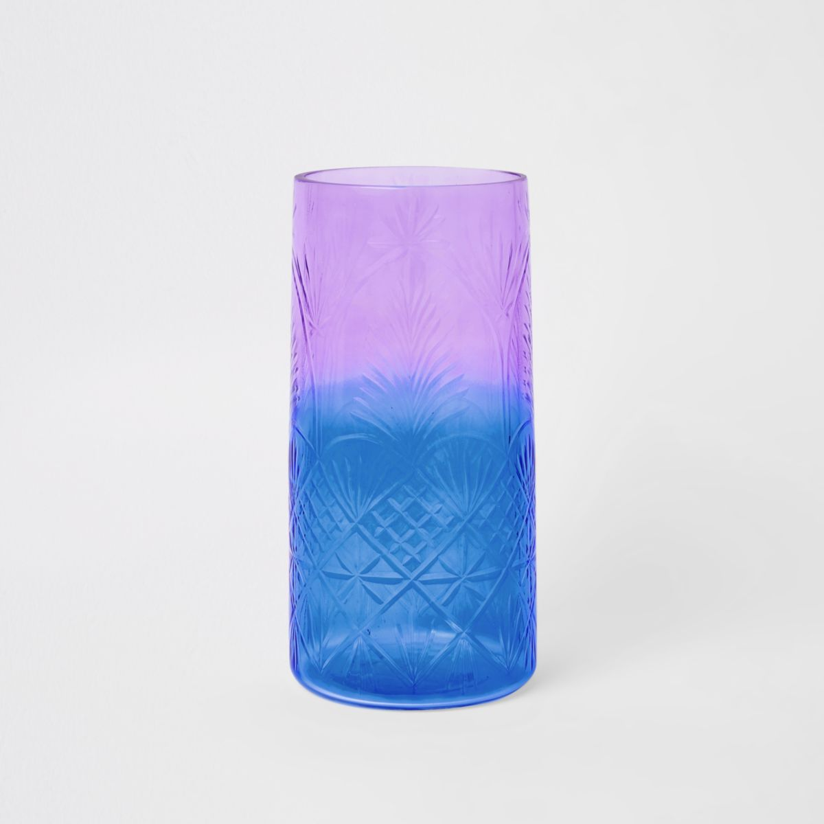 Ombre decorative glass vase