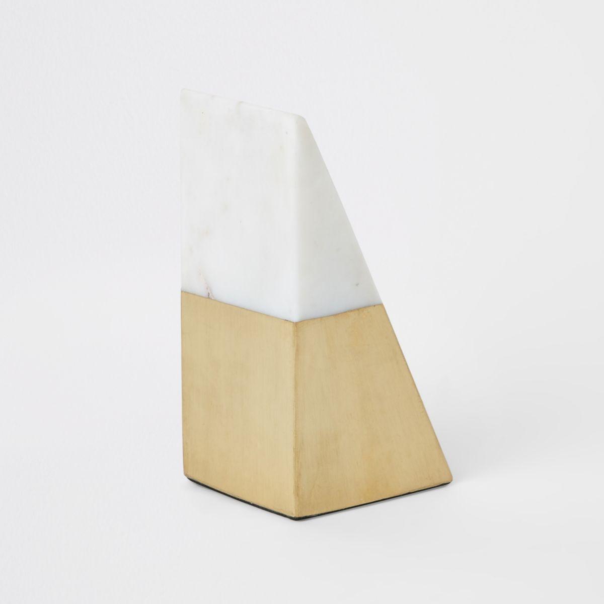 Triangular marble book end