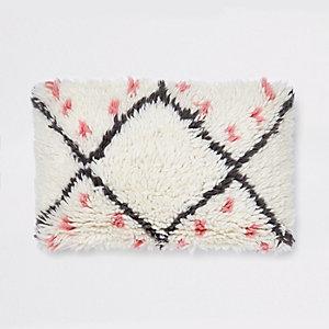 Cream wool cushion