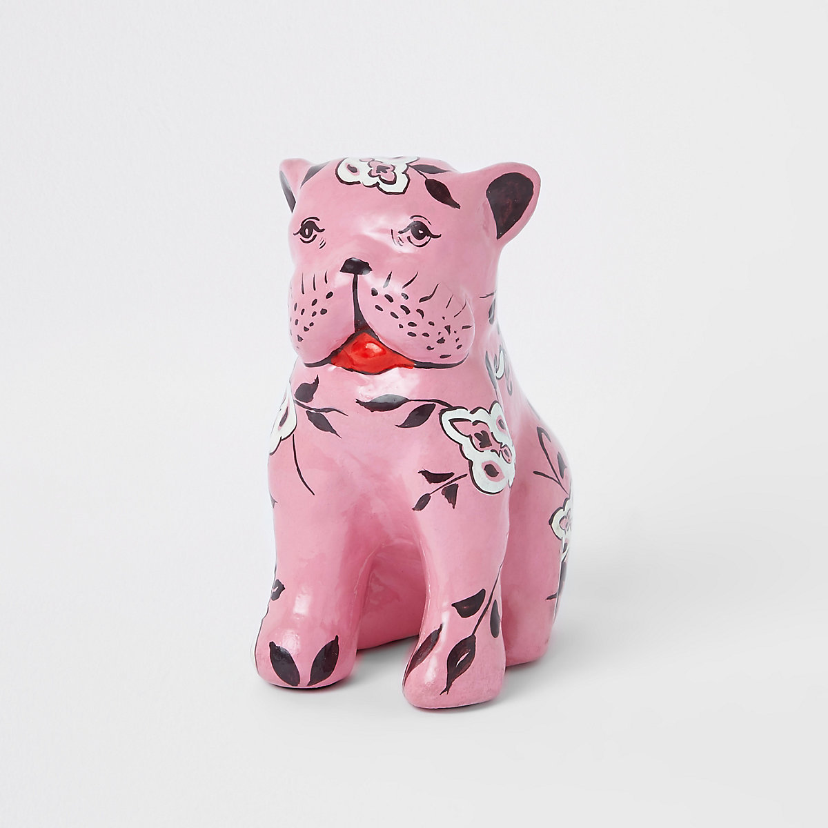 Pink french bull dog ornament