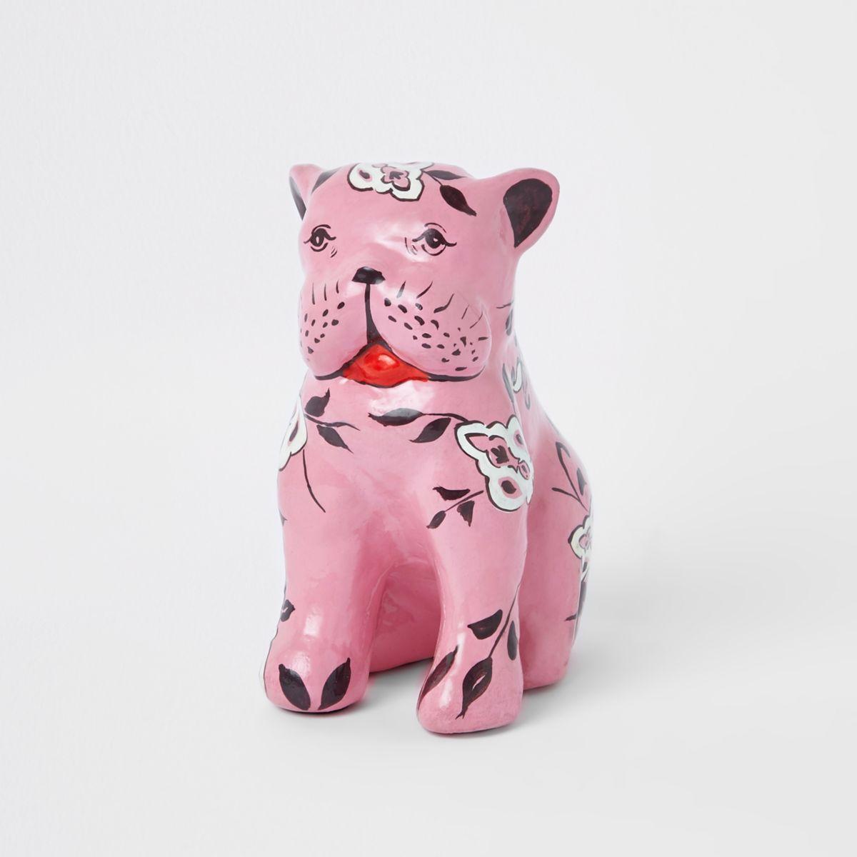 Pink dog ornament