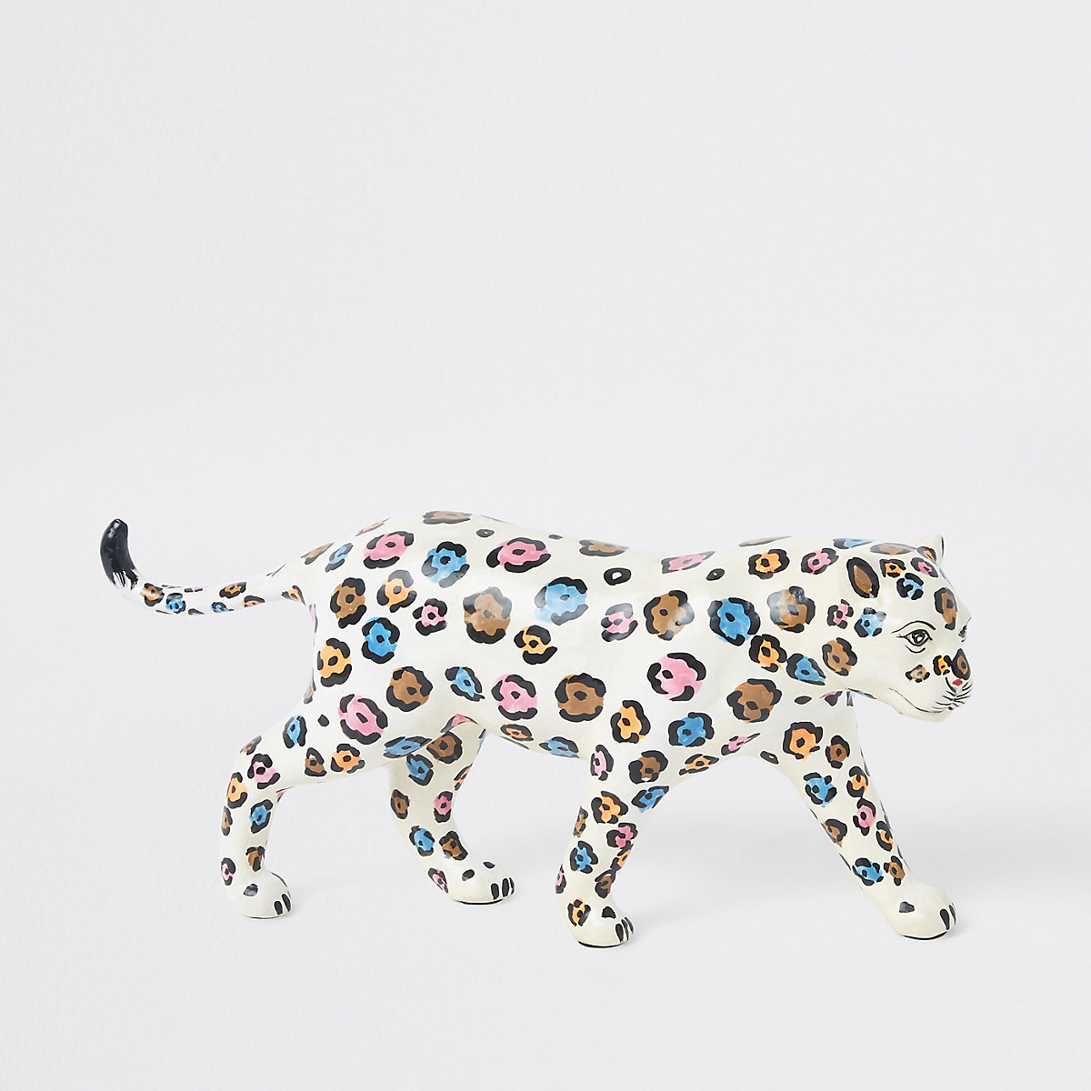 White leopard ornament