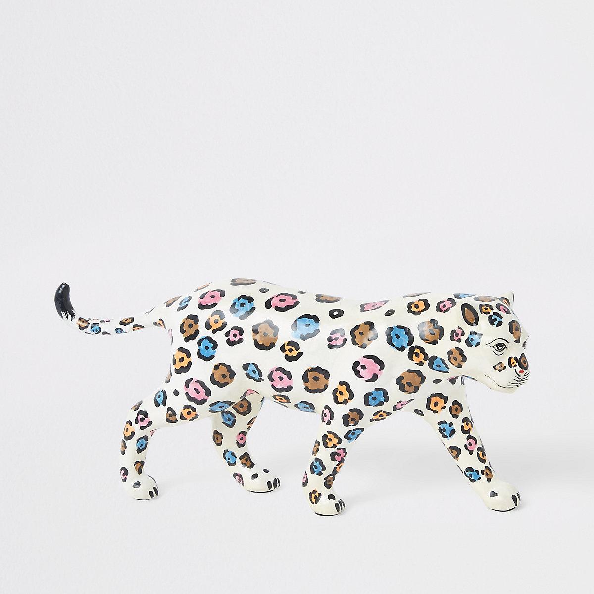 White leopard ornament