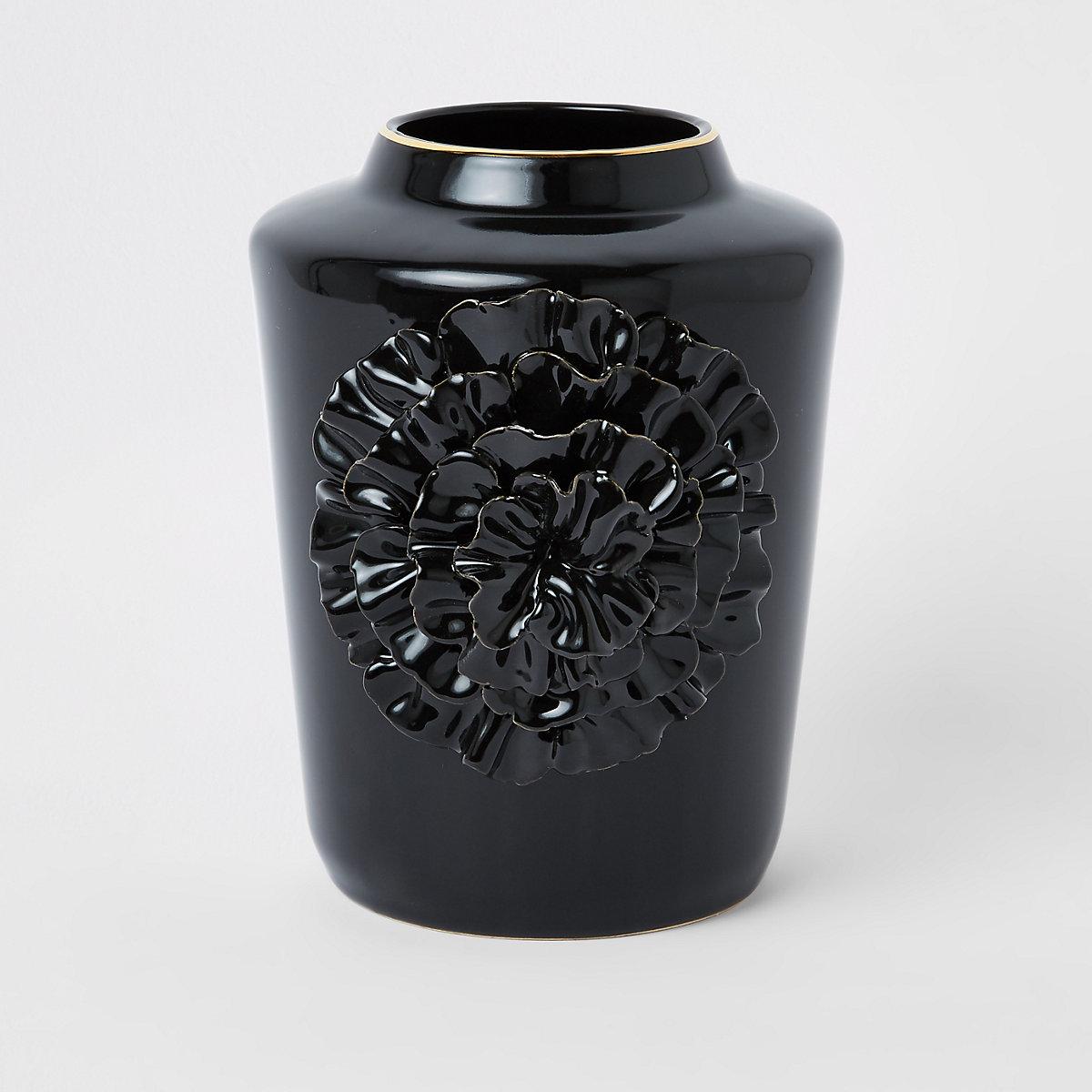 Vase en céramique noir
