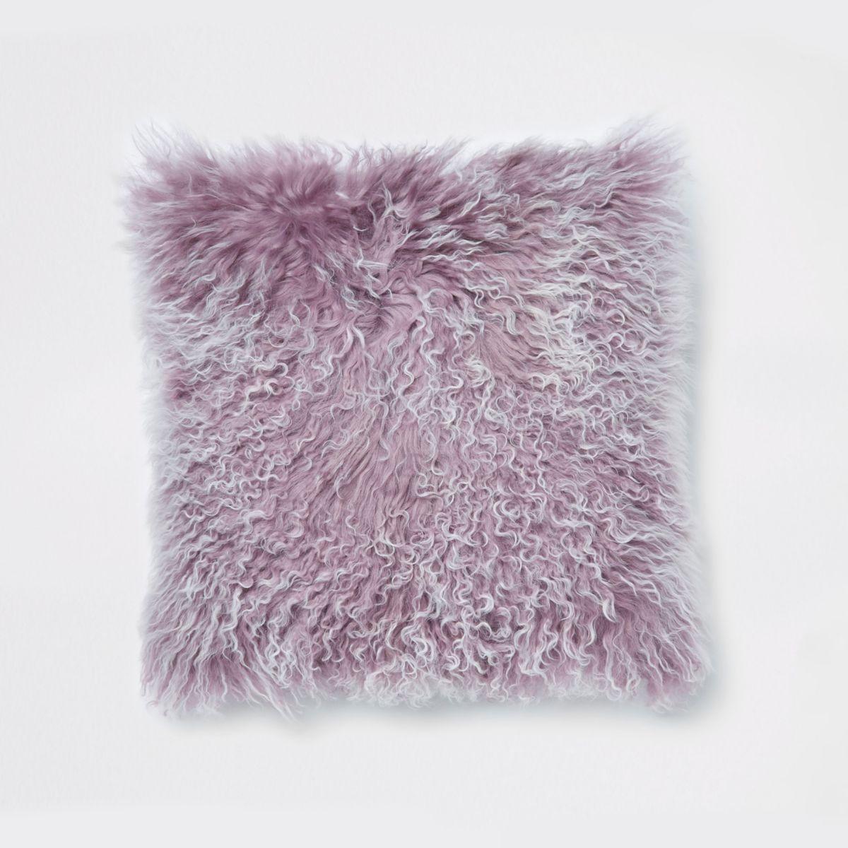 Purple Mongolian cushion
