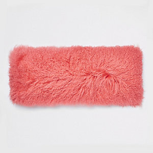Coral Mongolian rectangle cushion