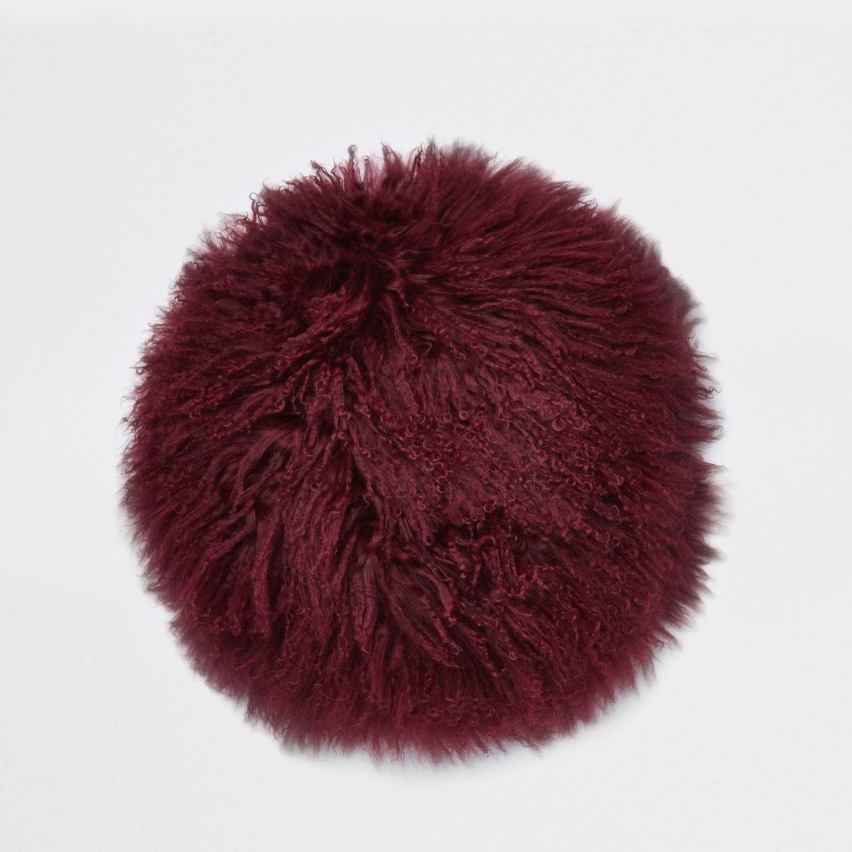 Burgundy Mongolian round cushion