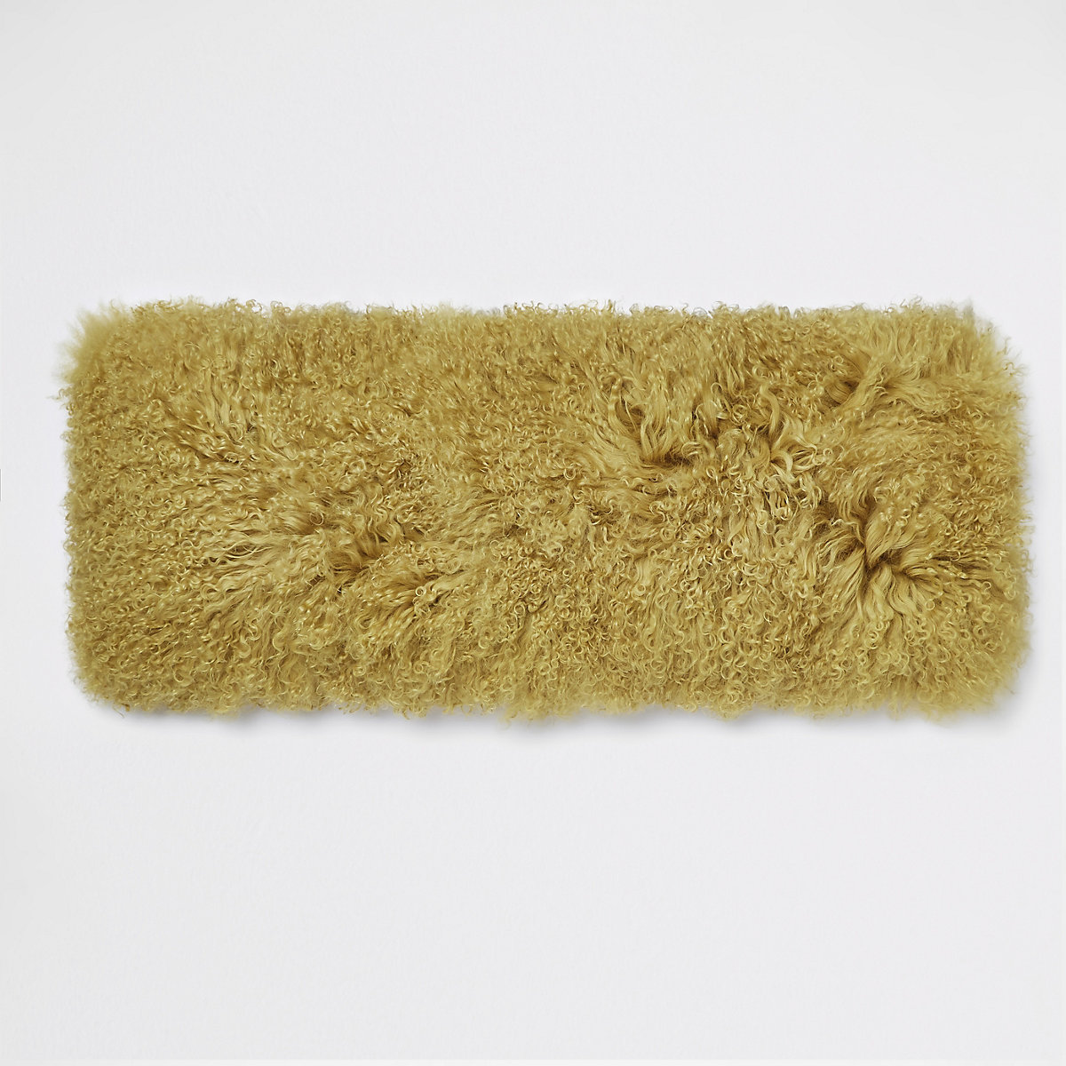 Yellow Mongolian rectangle cushion