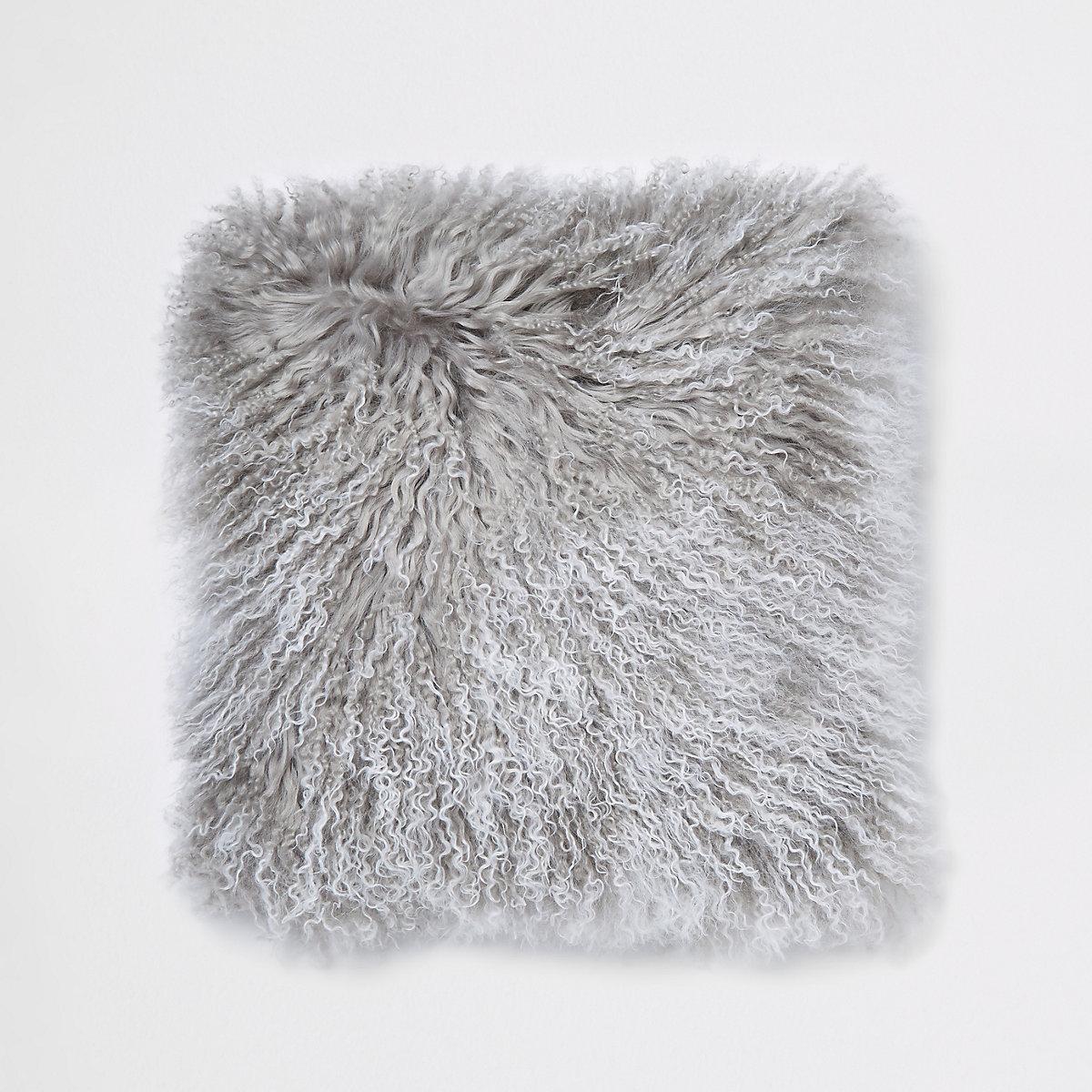 Grey tipped Mongolian cushion