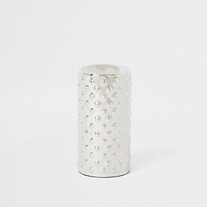 Medium silver tealight candle holder