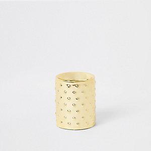 Small gold tealight holder