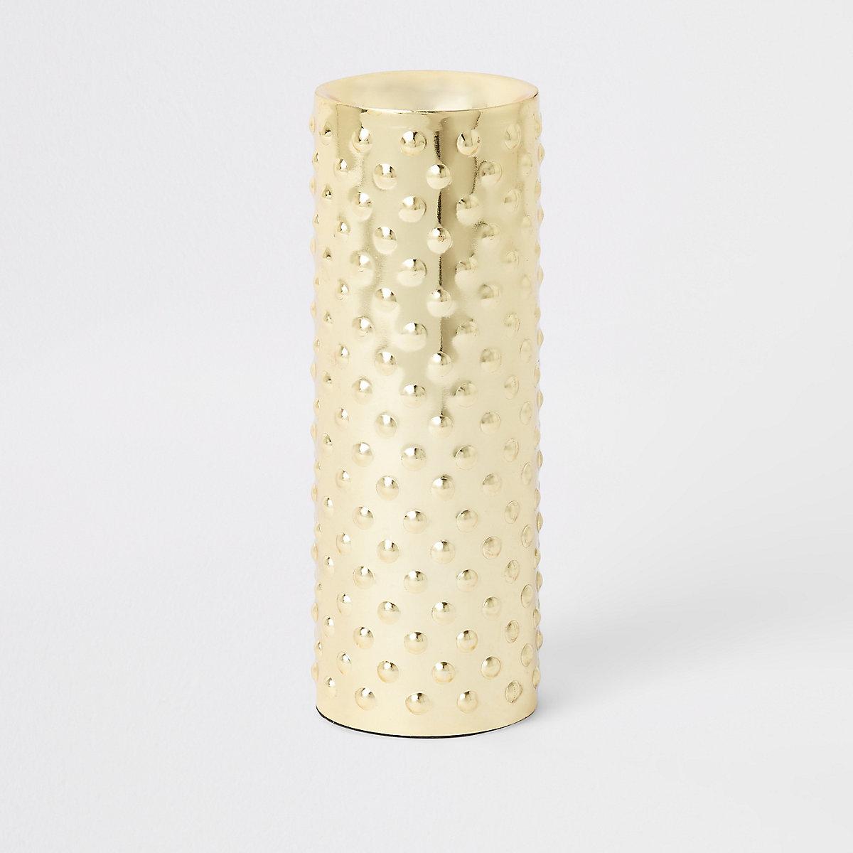 Large gold tealight holder