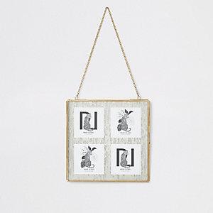 """4 4x4"""" hanging multi frame"""