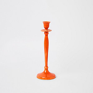 Orange candle stick holders
