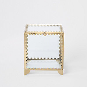 Small metal trim glass box
