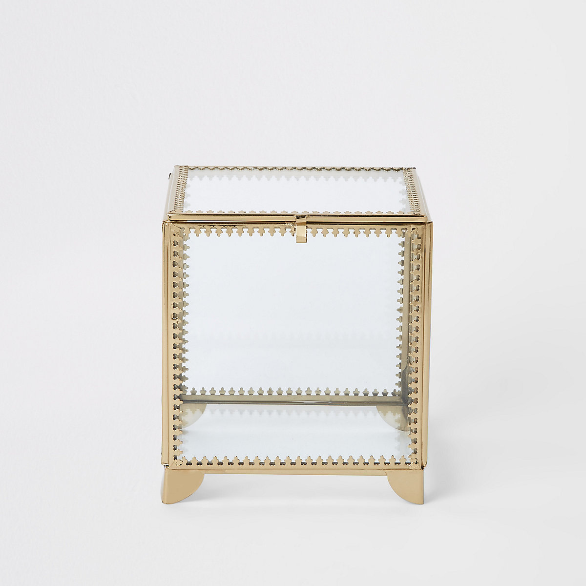 Small metal trim glass box
