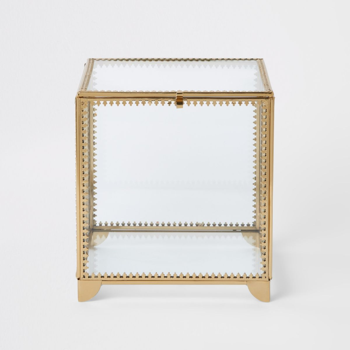 Large metal trim glass box