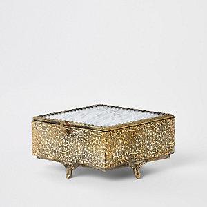 Antique diamond glass box