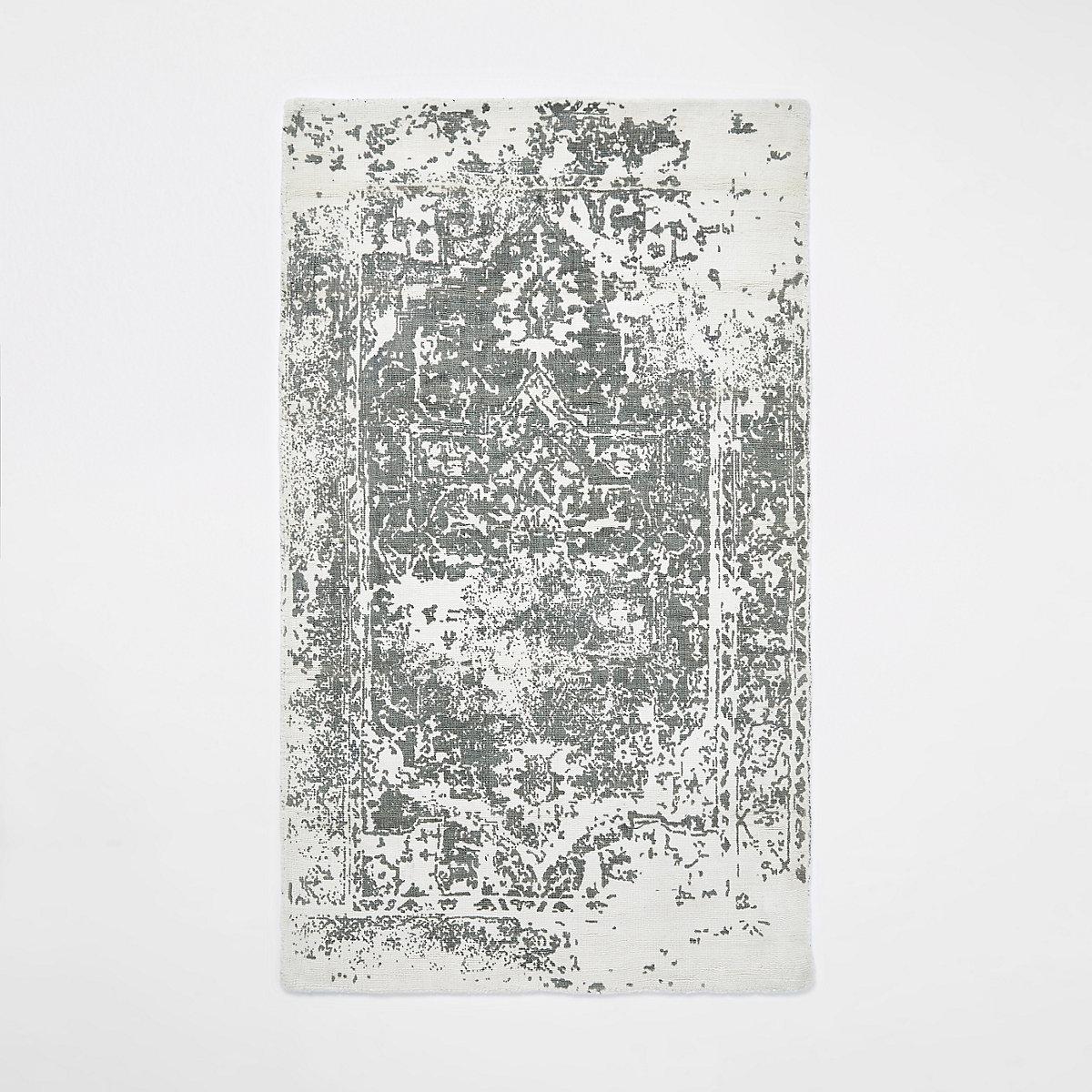 Cream printed rug