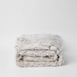 Speckled faux fur throw