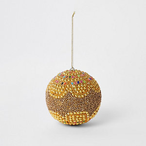 Gold beaded bling bauble