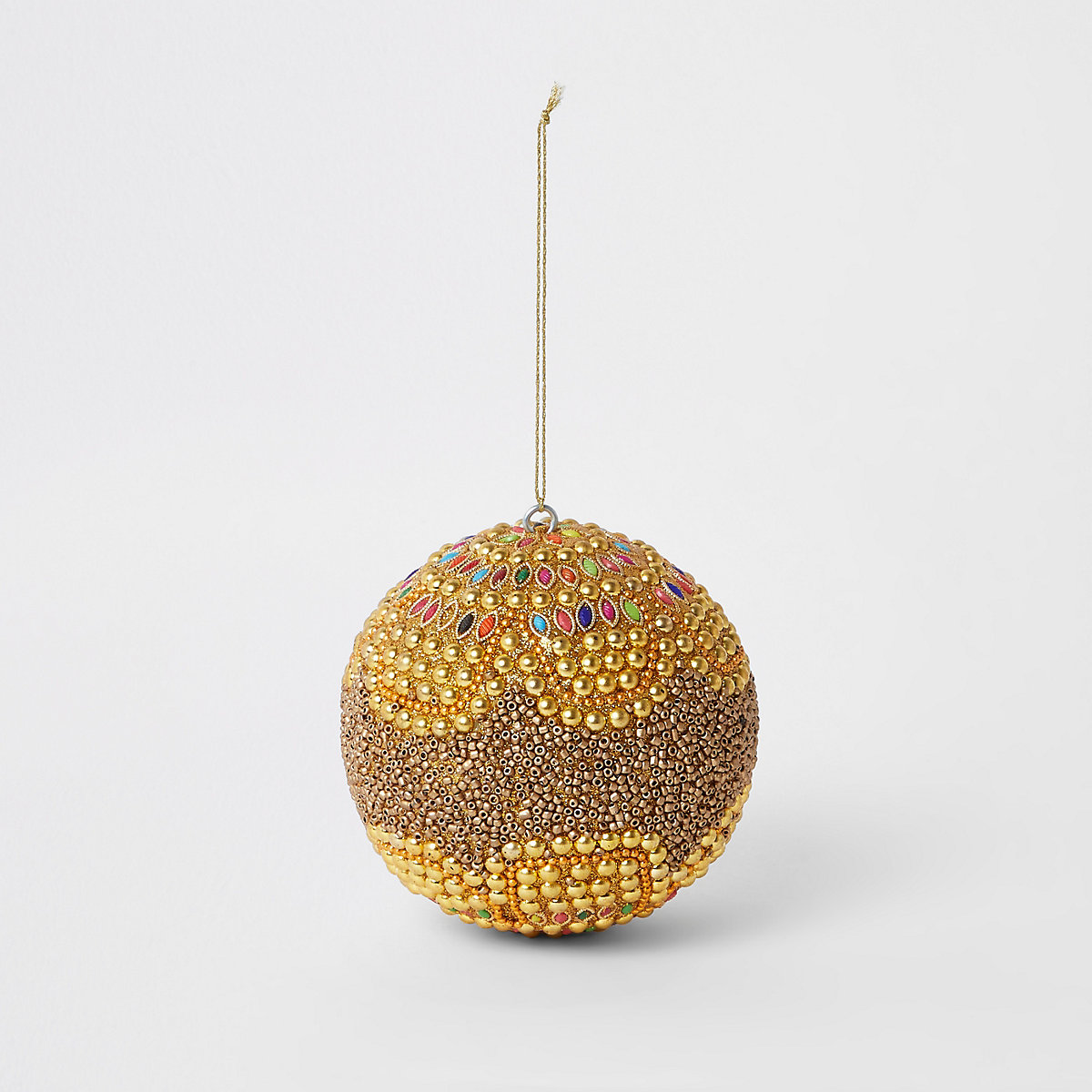 Gold beaded bling bauble