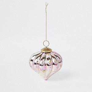 Pink multi metallic bauble