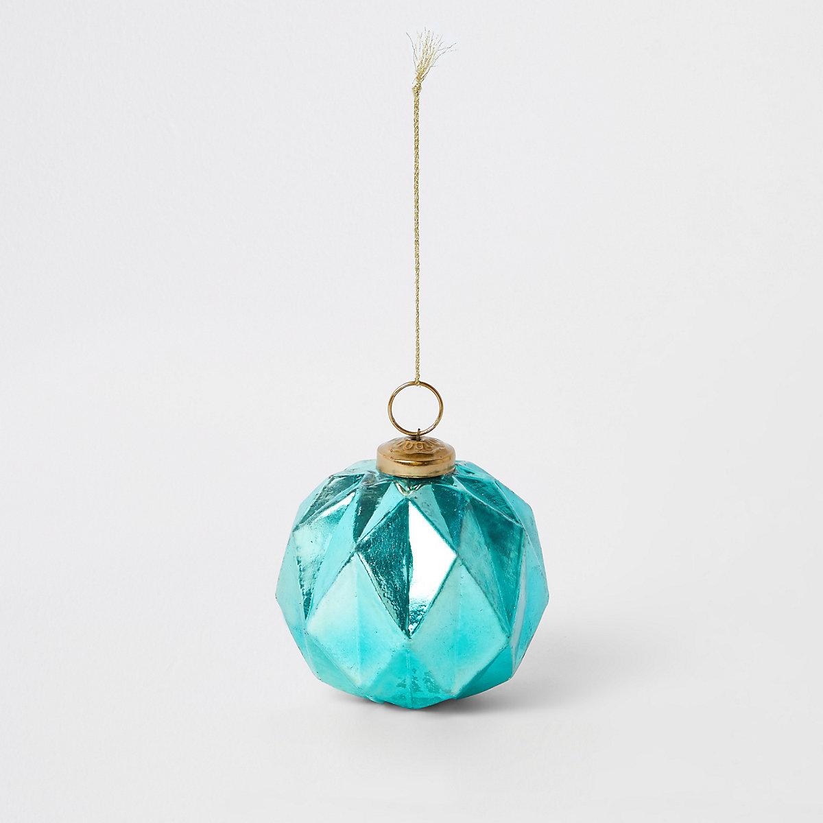 Turquoise hexagonal bauble