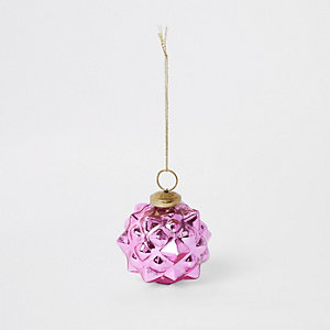 Pink spiked bauble