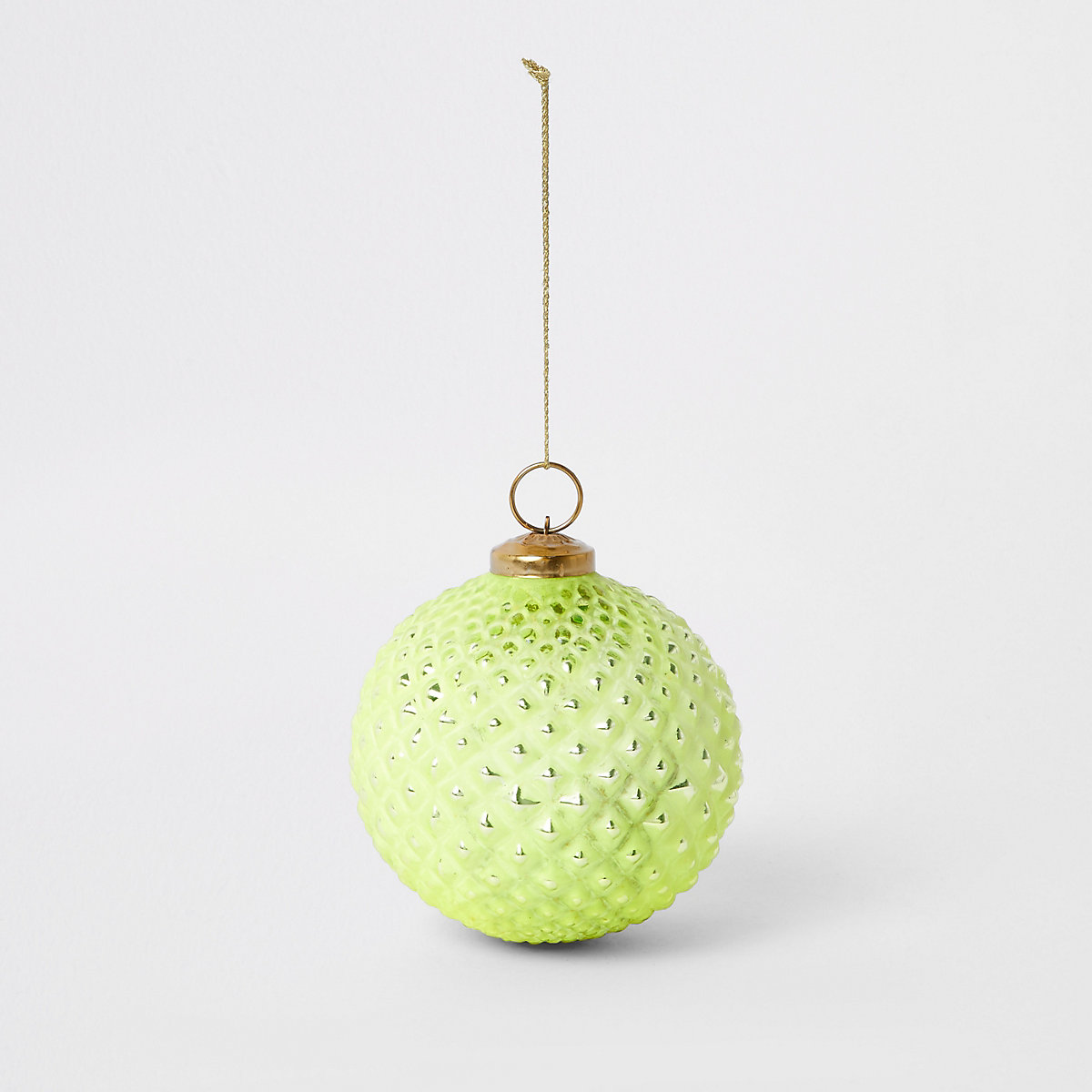 Large bright green metallic bauble