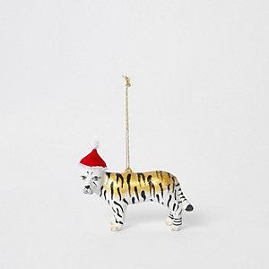 Gold tiger ornament