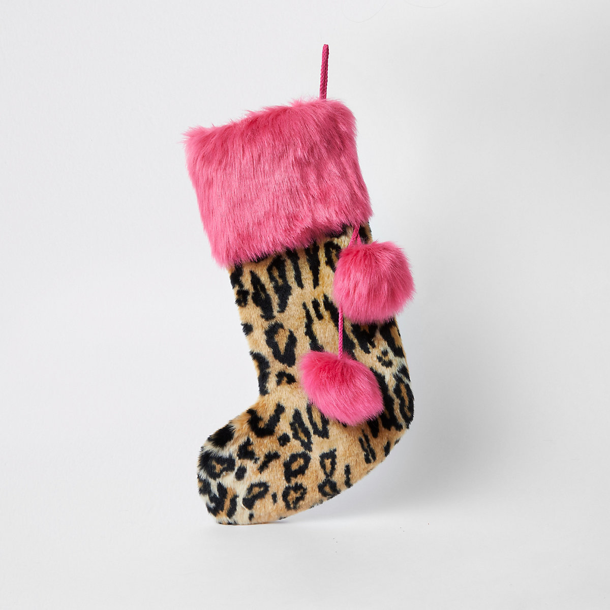 Leopard Christmas stocking