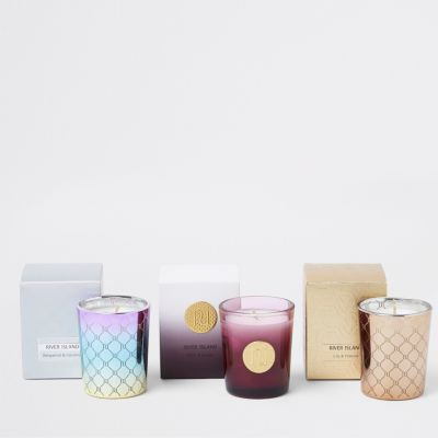 Triple Candle Gift Set by River Island