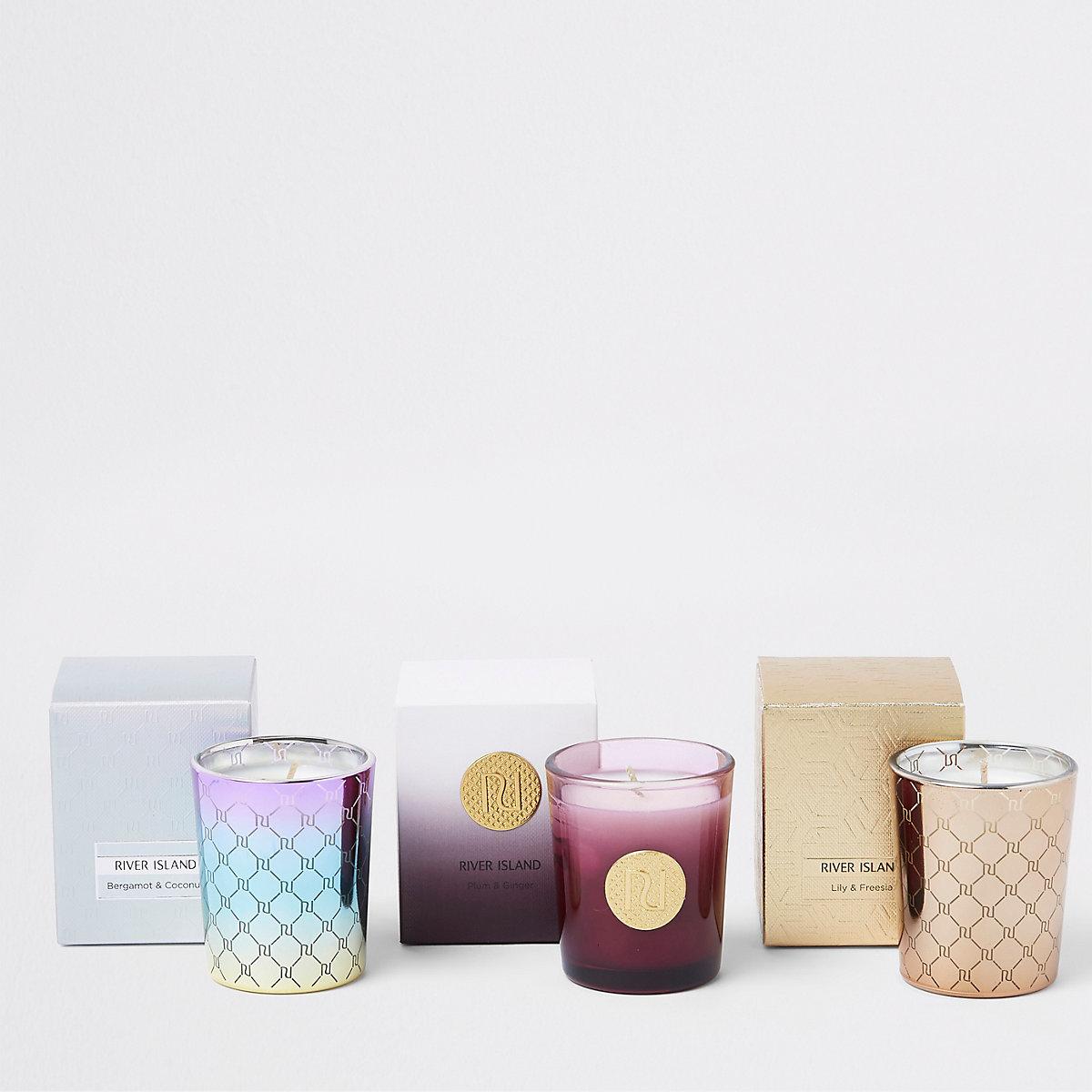 Triple candle gift set