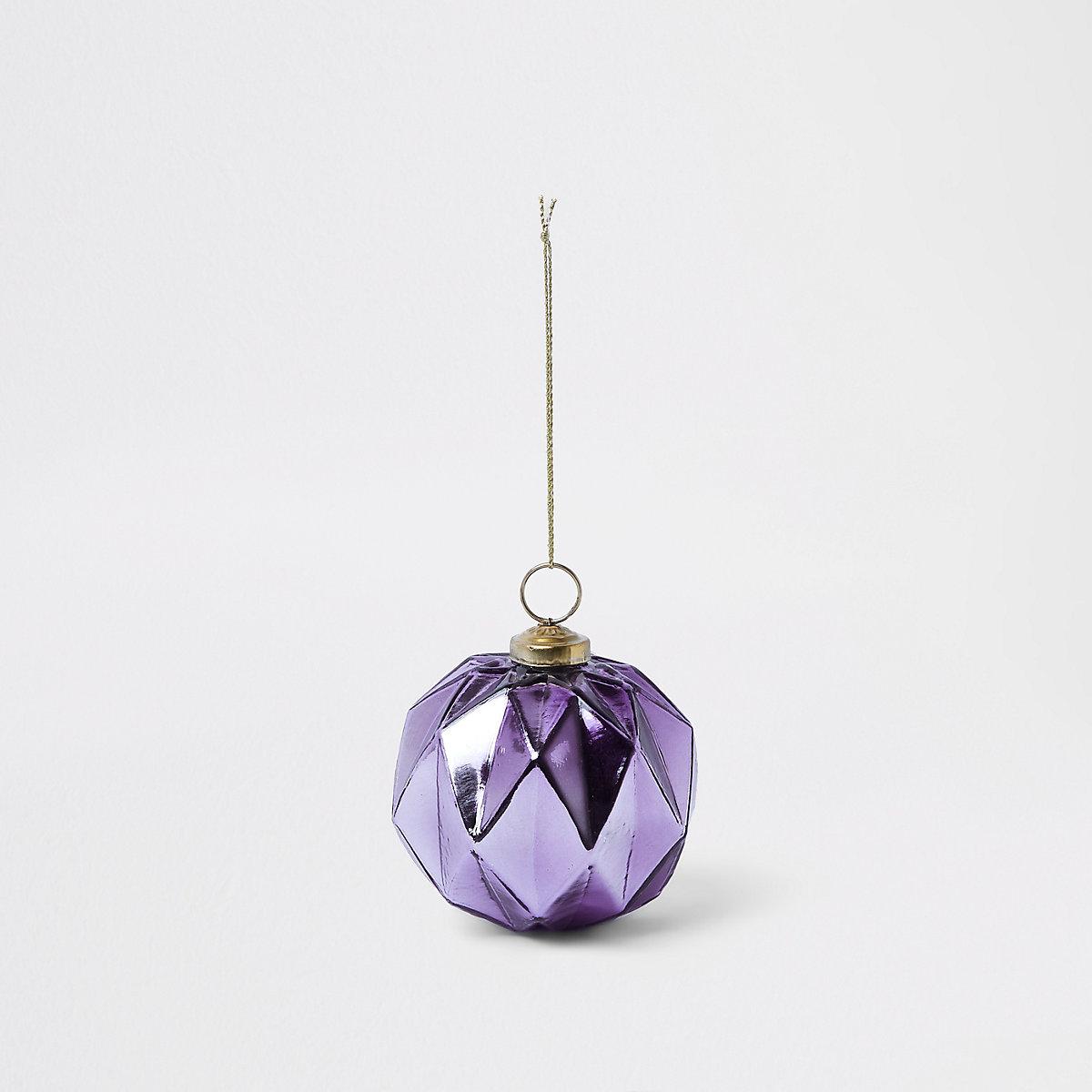 Purple hexagonal bauble