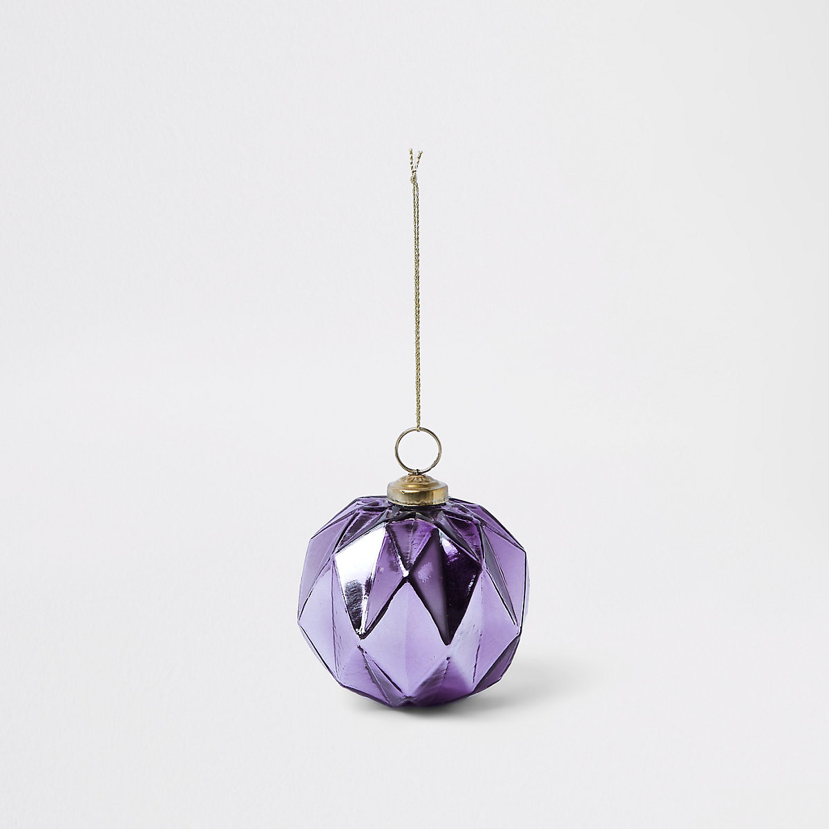 Purple hexagonal bauble