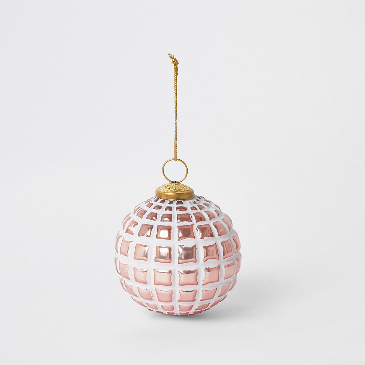 Large pink textured bauble